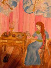 Иллюстрация к Е. Онегину,   Аня П., 13 лет.